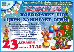 Новогоднее шоу «Цирк зажигает огни» в Парке культуры и отдыха «Ивановские пруды».
